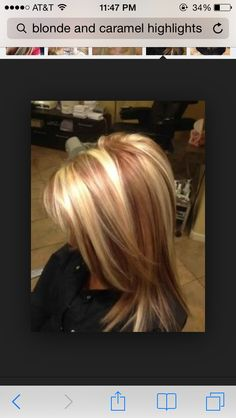 Love the blonde and Carmel highlights