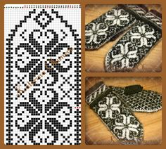 Fotos von Клуб ЛОПАПЕЙСА - Knitting and Crochet - Crochet Hat With Brim, Crochet Mittens Free Pattern, Crochet Gloves, Knit Mittens, Knitting Socks, Knit Crochet, Love Knitting, Norwegian Knitting, Knitting Charts