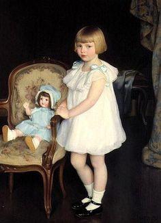 William McGregor Paxton (American, 1869-1941) 'Portrait of Eleanor Anne Schrafft' 1926