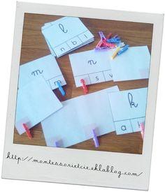 Cartes : correspondance cursive/script