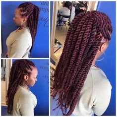 Marley Twist Hairstyles, African Braids Hairstyles, Girl Hairstyles, Braided Hairstyles, Black Hairstyles, Wedding Hairstyles, Hairstyles Videos, Beautiful Hairstyles, Updo Hairstyle