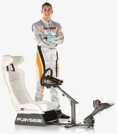 Playseat driving simulator and Sebastien Buemi Best Flights, Stationary, Gym Equipment, Bike, Ps4, Sports, Bicycle, Hs Sports, Ps3
