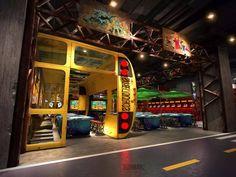北京海岸郭准投稿—武汉十三街区电玩城设计方案 Small Restaurant Design, Gaming Lounge, Board Game Cafe, Arcade Room, Maze Design, Game Room Basement, Dream Mansion, Pool Lounge, Cute Bedroom Ideas
