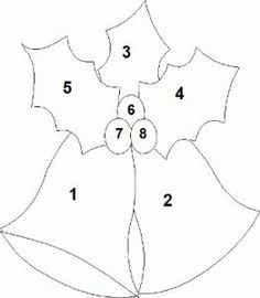 Free Applique Templates Step 3 : Peel the backing paper off the templates pieces and with the . Christmas Applique, Felt Christmas Ornaments, Christmas Sewing, Christmas Bells, Christmas Quilting, Christmas Poinsettia, Christmas Patterns, Christmas Tree, Christmas Projects