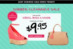 The Beauty Pirate: Just Fab Summer Clearance ends at midnight- shoes starting at $9.99!!!