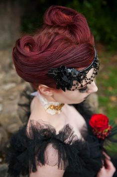 Gothic Halloween Wedding Updo
