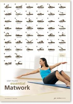 Amazon.com : STOTT PILATES Wall Chart - Essential Matwork : Fitness Charts And Planners : Sports & Outdoors