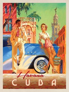 Cuba: Havana Shade - This series of romantic travel art is made from original oi. - Cuba: Havana Shade – This series of romantic travel art is made from original oil paintings by ar -