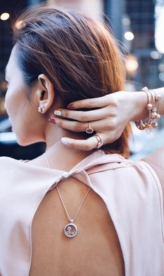 Keep your memories close to you with PANDORA's floating locket, just like @Cherryair at New York Fashion Week.