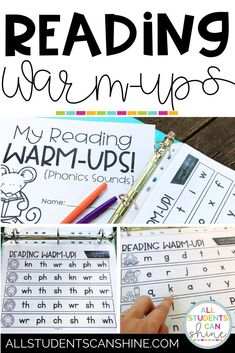 Reading Warm-ups for Practicing Phonics Sounds