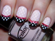 Vintage Musings Of A Modern Pinup: Princess Nails Polka Dot Art, Polka Dot Nails, Polka Dots, Designer Nails, Color Club, Vintage Couture, Pretty Eyes, Beauty Full, Play Dress