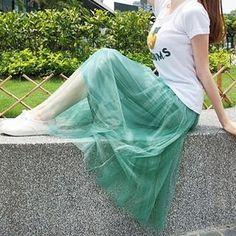 Tokyo Fashion  Mesh Maxi Skirt