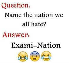 """If you want to get high score in exams you have to stay focus and attention of these """"Top Funny Minion Exam Quotes – Famous Funny Hilarious Memes and Pictures"""". Exam Quotes Funny, Exams Funny, Funny School Jokes, Very Funny Jokes, Funny Qoutes, Crazy Funny Memes, Jokes Quotes, Funny Relatable Memes, Funny Facts"""