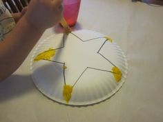 Preschool Star Activity that's perfect for toddlers as well Shapes For Toddlers, Finger Plays, Stars Craft, Step Kids, Yellow Painting, Star Shape, Preschool Shapes, Nursery Rhymes, Paper Plates