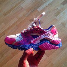 77fdf6dae032  Nike  Huarache  Air  Waxfeller  Custom  Pink  Blue  White