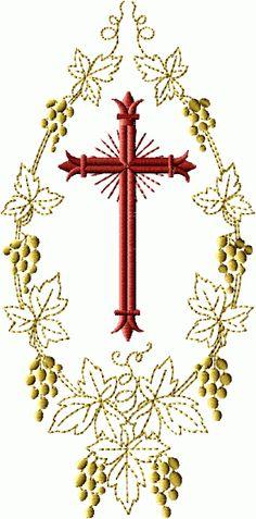 Christian Symbols machine embroidery designs 5x7 hoop