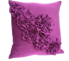 Ruffled Rosette Pillow Tutorial {from a t-shirt}