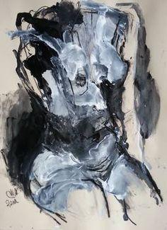 "Saatchi Art Artist Badri Valian; Painting, ""Nude"" #art"