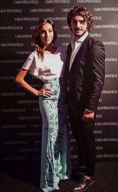 Francesca Rocco e Giovanni Masiero in #carlopignatelli total look.