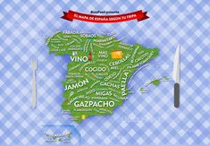 Map of food A Level Spanish, Teach Me Spanish, Spanish 1, Spanish Lessons, Learning Spanish, Spanish Party, Spanish Language, Tapas, Symbols