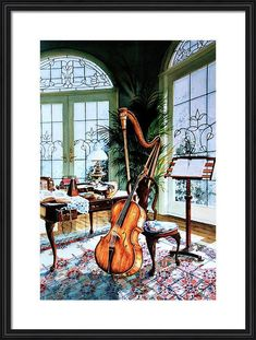 Conservatory Still Life Instrument Painting Classic Paintings, Beautiful Paintings, Be Still, Still Life, How Beautiful, Beautiful Places, Higher Art, Pine Mountain, Old Master