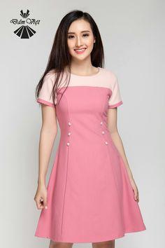 Trendy Dresses, Simple Dresses, Cute Dresses, Beautiful Dresses, Casual Dresses, Girls Fashion Clothes, Girl Fashion, Clothes For Women, Frock Fashion
