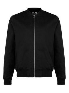Bomberjacke aus Baumwolle, schwarz Jacken Herren, Baumwolle, Schwarz,  Kleidung, Bomberjacke Männer 2c2c624a7f