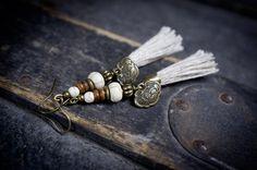 tassel earrings ethnic earrings asian earrings by entre2et7