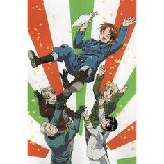 Hetalia: Axis Powers (Italy, Germany, England, America, Japan) -... ❤ liked on Polyvore featuring hetalia
