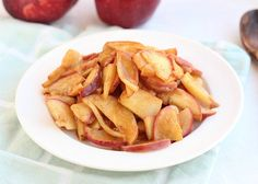 This sugar-free apple pie filling is made without any sweeteners and is delicious atop pancakes or yogurt. Vegan-friendly, paleo, and gluten-free.