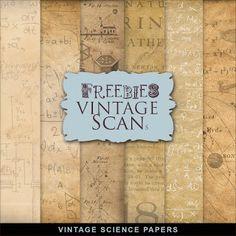 Freebies Vintage Science Papers-CK