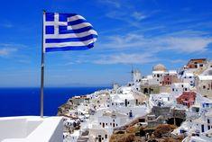Athens, Santorini and Lefkata Skiathos, Paros, Mykonos, Santorini Greece, Santorini Island, Bucket List Tumblr, Bucket List Before I Die, Greek Flag, Creta