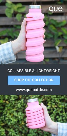 The perfect travel bottle, collapsible & lightweight!