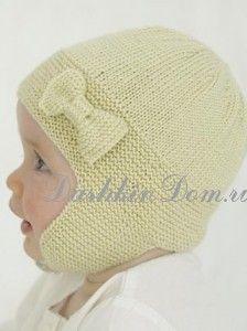 шапочка для девочки до года
