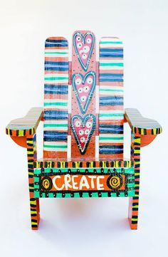 eclectic artwork adirondack chairs revamped furniture alabama carolyn funky furniture