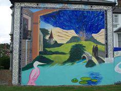 Mural of William Blake's vision in Peckham
