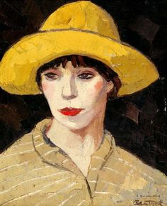 Woman with a Yellow Hat, Robert Louis Antral