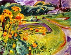 bofransson: Autumn by the Greenhouse Edvard Munch - 1923-1925