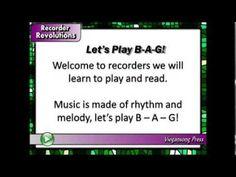 Recorder Revolutions Teaser #4. B A G song.