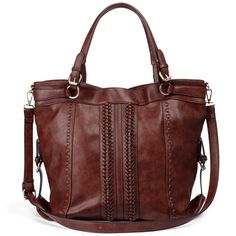 Oversized shoulder bag with artisan-inspired woven details and vintage-style buckle