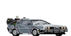 Pixel art of movies, shows, and games by Matt Frith Back To The Future, Future Car, Transformers, Pixel Animation, 8 Bit Art, 8 Bits, Bttf, Game Design, Pixel Art