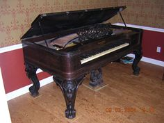 the square grand piano - this is my favorite kind of piano!!! they're so old and very rare. I believe most if not all of them were made in the 1800's. they're so beautiful...I would absolutely love to own one..probably only in my dreams :)