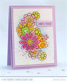 Hey There: MFT Doodled Blooms Card Kit RELEASE | Thinking Inking | Bloglovin'