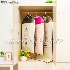 Timelive Brand New  Dustproof Cover Bag Garment Suit Dress/Jacket/Clothes /Coat Protector Wardrobe Storage Bags wholesale #Affiliate