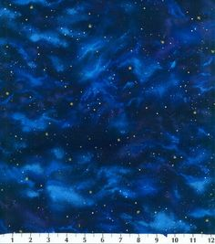 Benartex Fat Quarter The Cosmos on Blue Space Cotton Quilting Fabric