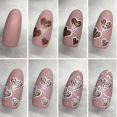 Nail art is a very popular trend these days and every woman you meet seems to have beautiful nails. It used to be that women would just go get a manicure or pedicure to get their nails trimmed and shaped with just a few coats of plain nail polish. Xmas Nails, Holiday Nails, Diy Nails, Cute Nails, Manicure Ideas, Simple Nail Designs, Nail Art Designs, Nails Design, Nail Design Spring