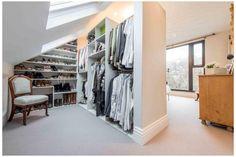 Loft Room, Bedroom Loft, Bedroom Decor, Room Closet, Attic Closet, Extra Bedroom, Bedroom Storage, Bedroom Ideas, Attic Office