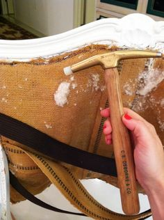 detailed how to upholster a chair!