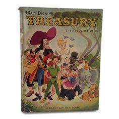 Walt Disney Treasury Children's Book Picture Storybook Large Golden Book Disney Artwork Classics Illustrations Framed Nursery Scrapbooking
