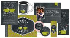#bridal collection #DIY #digiscrap guest book, table decor, invitations, candybar wrappers, etc. Completely customizable!